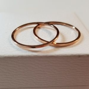 2 Rose Gold Dainty Stackable Engagement Rings 9